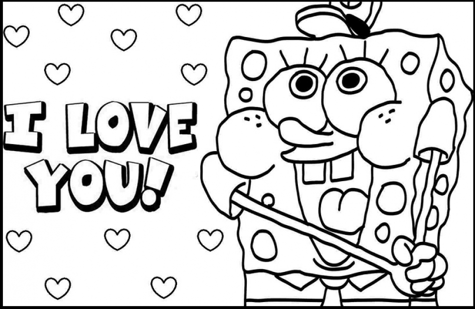 Get This Simple I Love You Coloring Pages To Print For