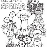 Simple Spring Coloring Pages to Print for Preschoolers   cdsxi