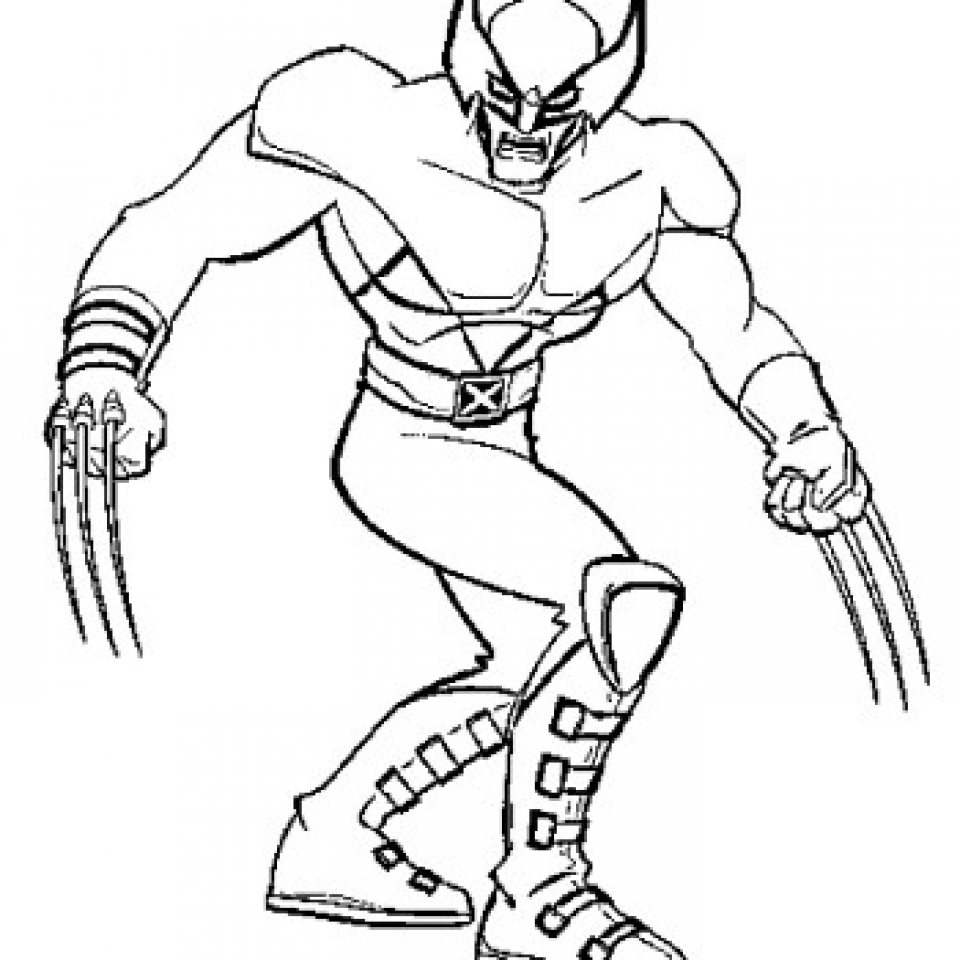 simple wolverine coloring pages to print for preschoolers kbld1