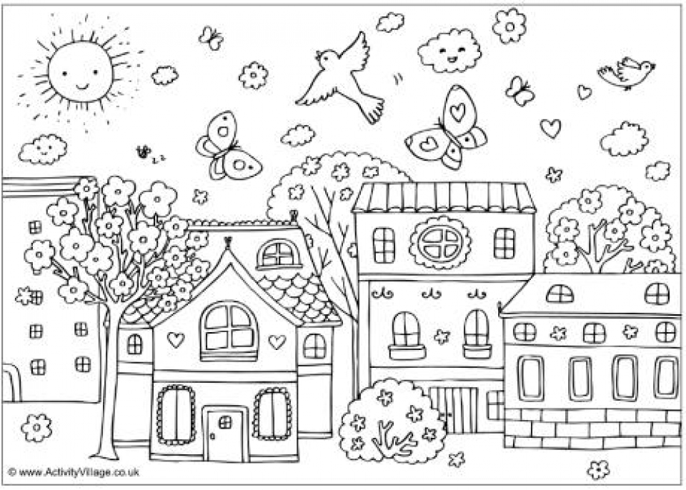 Spring Coloring Pages Online Printable   nhywg