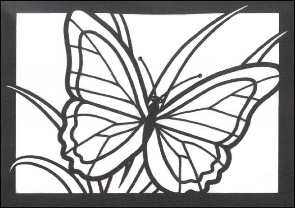 simple stained glass coloring pages - photo#7
