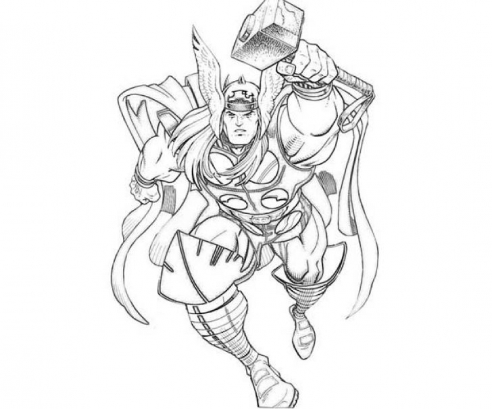 Thor Coloring Pages Free Printable   9466