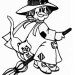Witch Coloring Pages to Print Online   K0X5s
