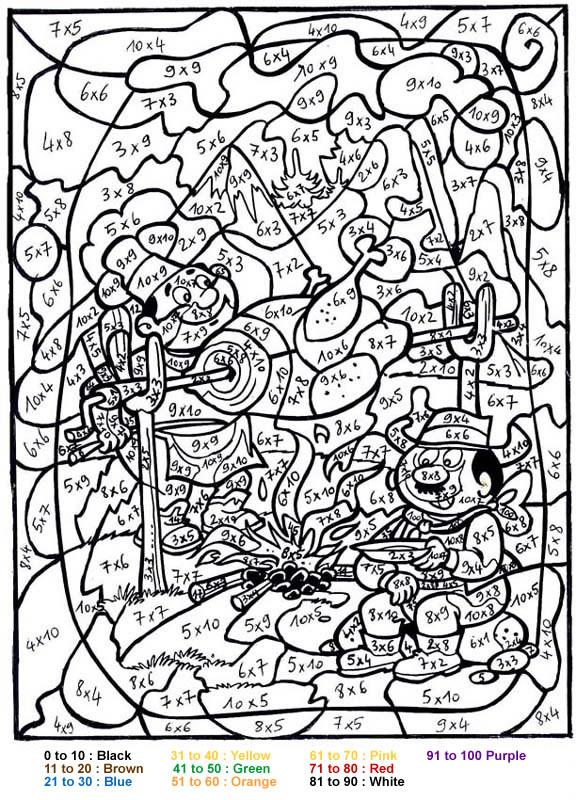 Get This Difficult Color By Number Pages For Grown Ups