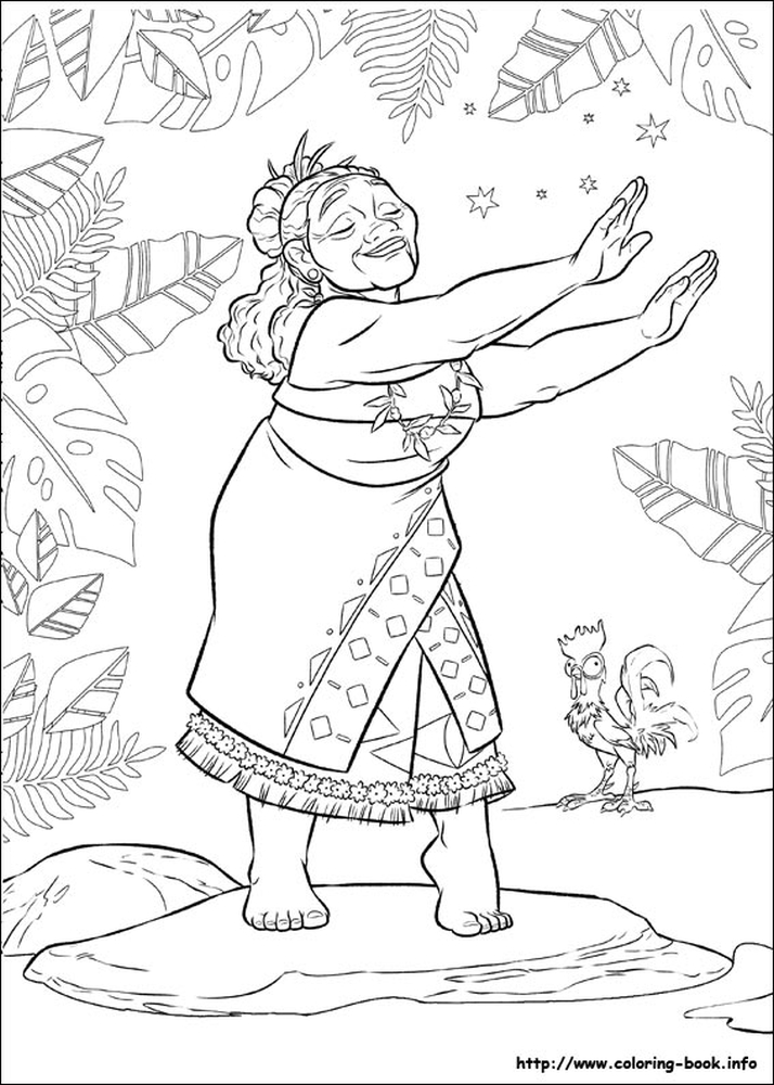Get This Free Moana Coloring Pages