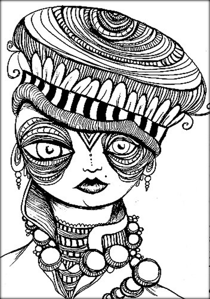 hard trippy coloring pages free for adults cu8r6 - Trippy Coloring Pages