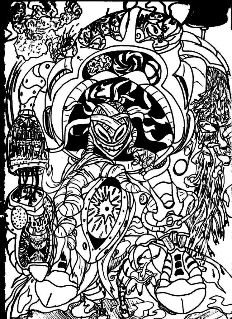 hard trippy coloring pages free for adults gts81