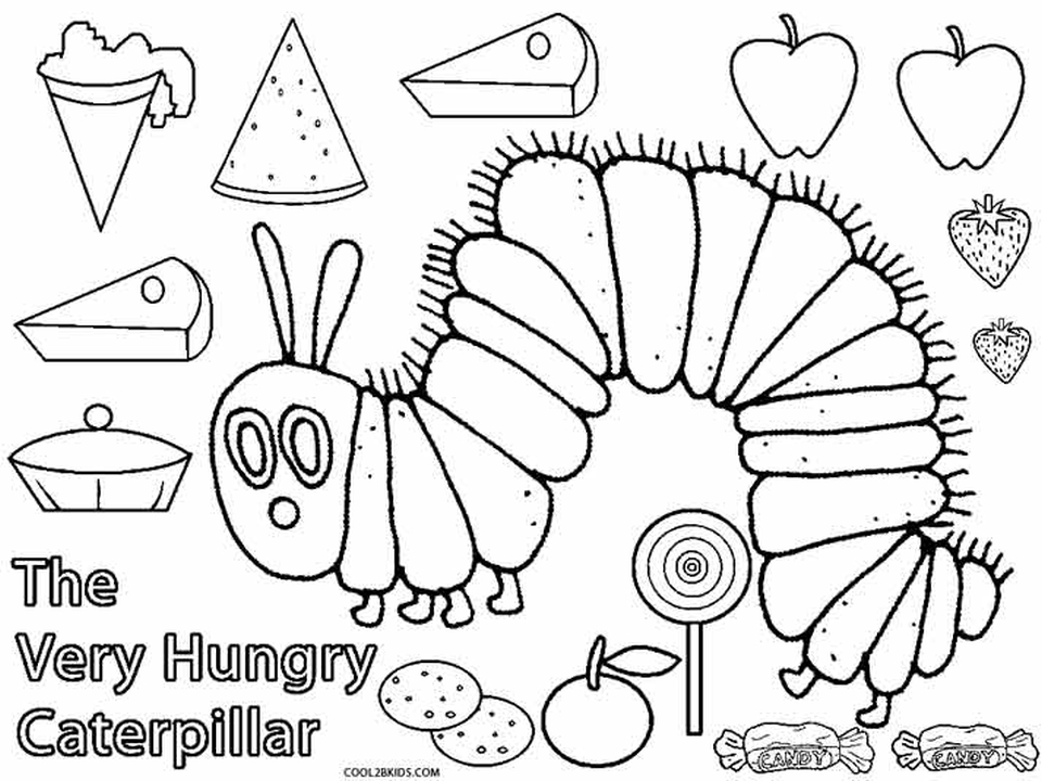 The Very Hungry Caterpillar Butterfly Coloring Page