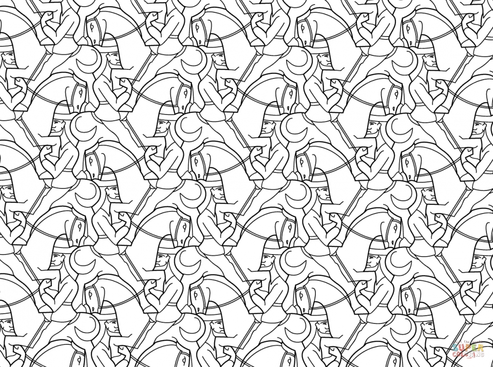 Adult Printable Tessellation Coloring Pages   6cv4n