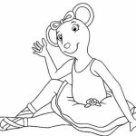 Angelina Ballerina Coloring Pages Free Printable   655753