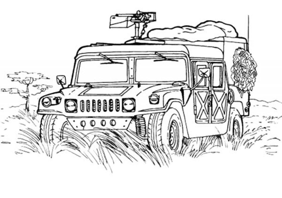 Get This Army Truck Coloring Pages