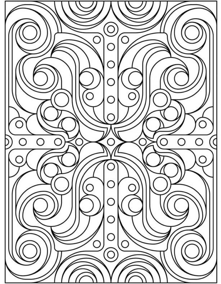 Art Deco Patterns Coloring Pages for Adults Free to Print   23559bk