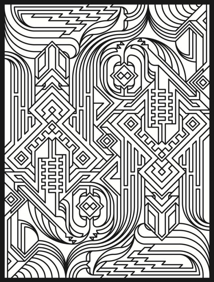 20+ Free Printable Art Deco Patterns Coloring Pages for ...