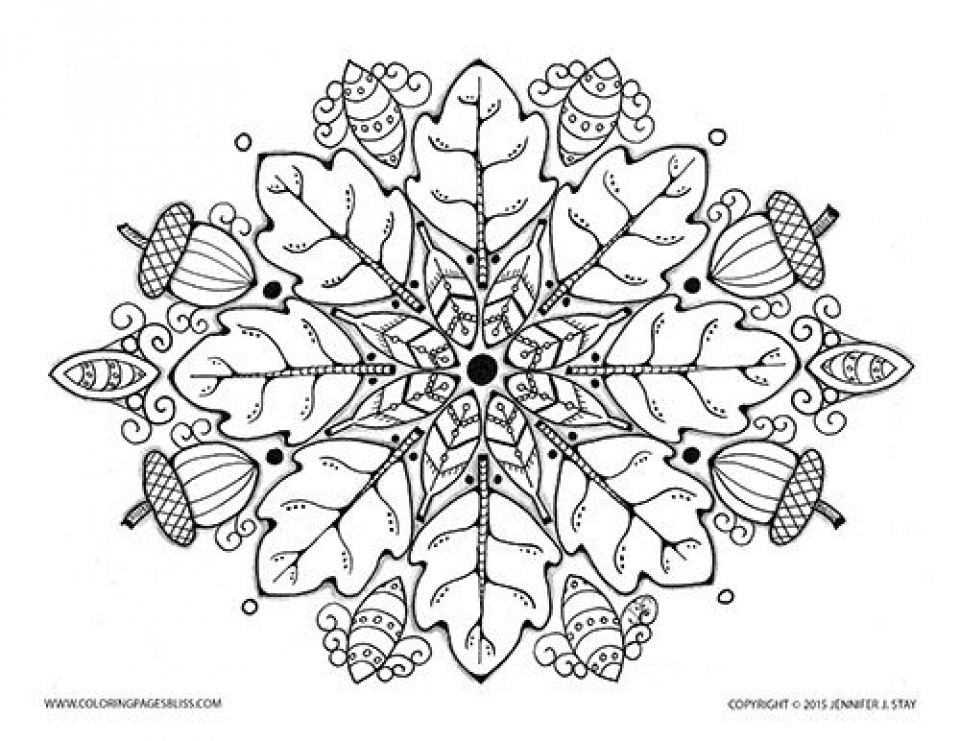20 free printable autumn fall coloring pages for adults for Free fall coloring pages