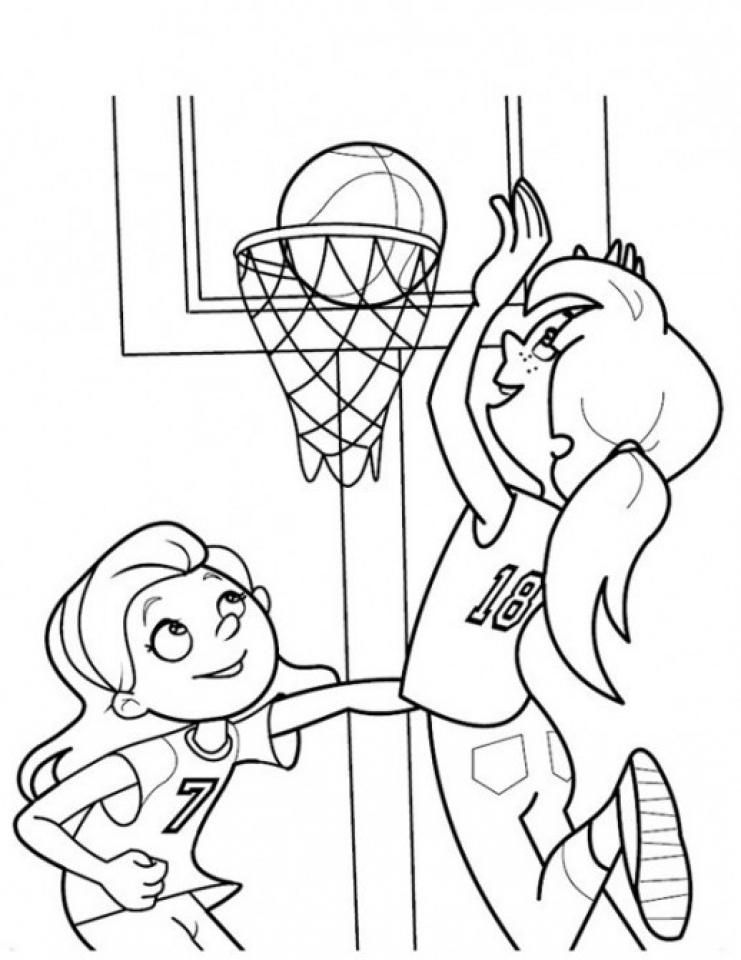 Get this basketball coloring pages free printable 606708 for Printable basketball coloring pages