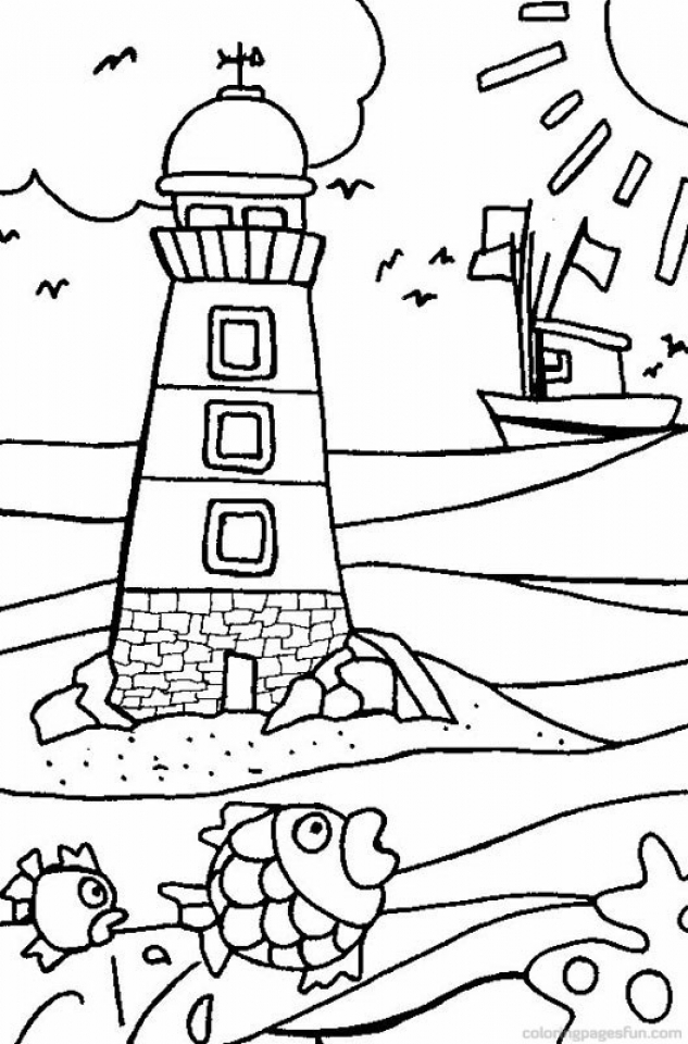 Beach Coloring Pages Free Printable   EYPUX
