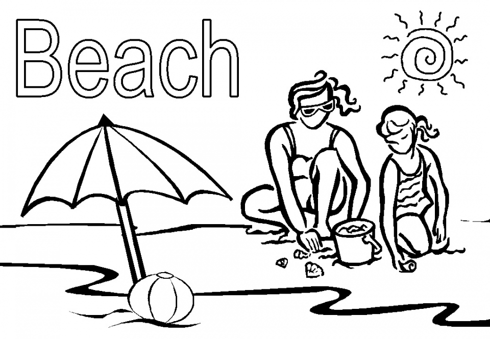 Emejing Beach Coloring Pages Pictures Printable Coloring Pages