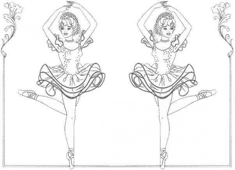 Beautiful Ballerina Coloring Pages   223897