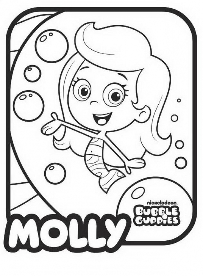 Bubble guppies halloween coloring pages ~ Get This Bubble Guppies Coloring Pages Free Printable 595978