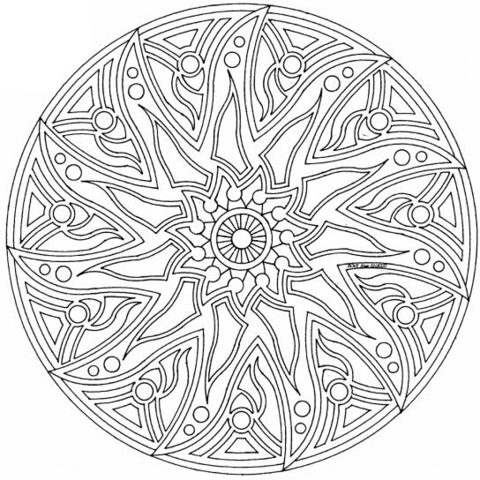 Complex Coloring Pages for Adults   34BV7