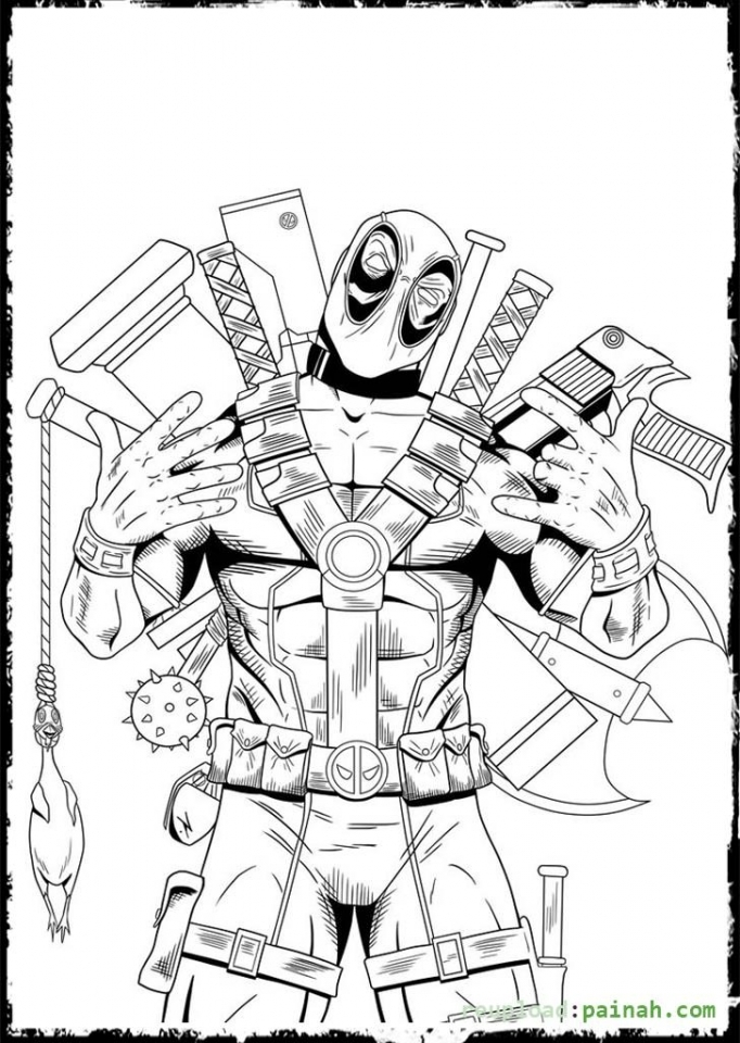 Get This Deadpool Coloring Pages