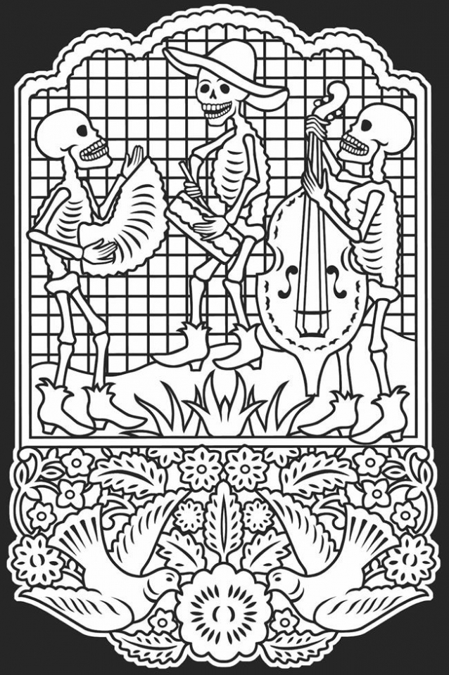 Get This Dia De Los Muertos Coloring Pages Free Printable