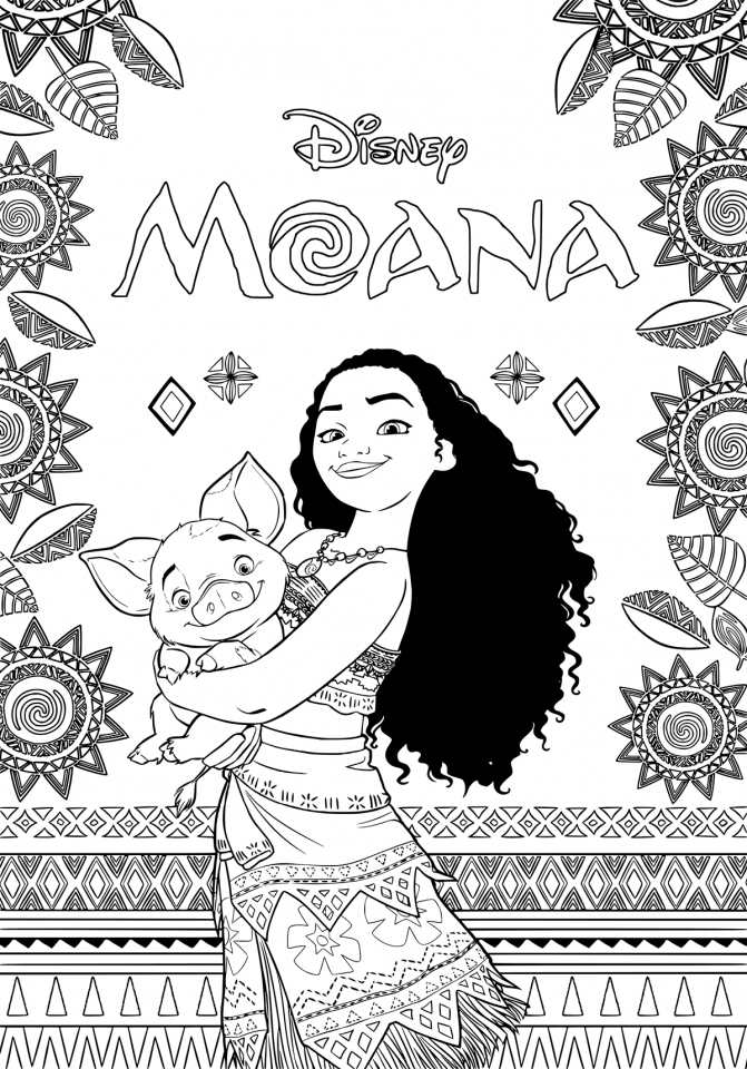Disney Moana Coloring Pages   PL67Q