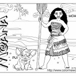 Disney Moana Coloring Pages   YA409