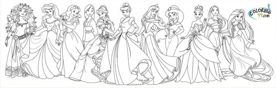 Disney Princess Coloring Pages Free Printable   434409
