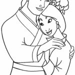 Disney Princess Mulan Coloring Pages   454lz