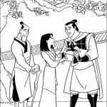 Disney Princess Mulan Coloring Pages   683en