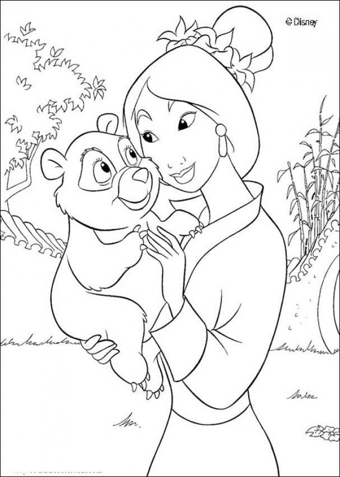 disney princess mulan coloring pages db874