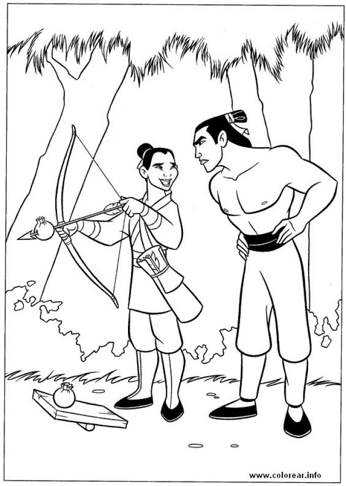 Disney Princess Mulan Coloring Pages   pl972