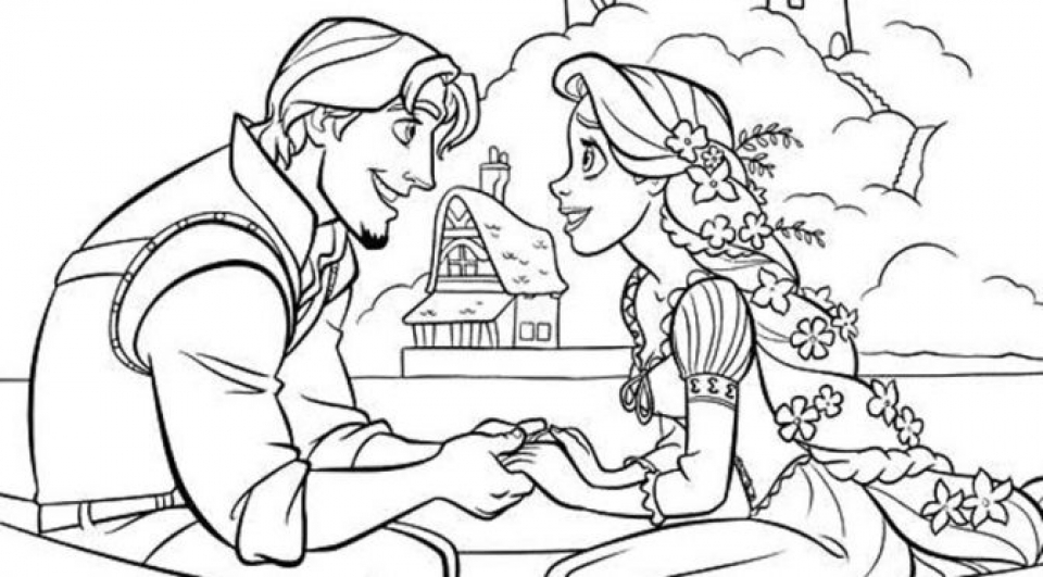 Disney Princess Rapunzel Coloring Pages   ZJRIB