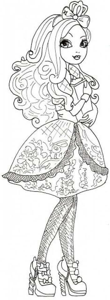 Get This Ever After High Coloring Pages For Girls Der34