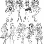 Ever After High Coloring Pages for Girls   FGT45