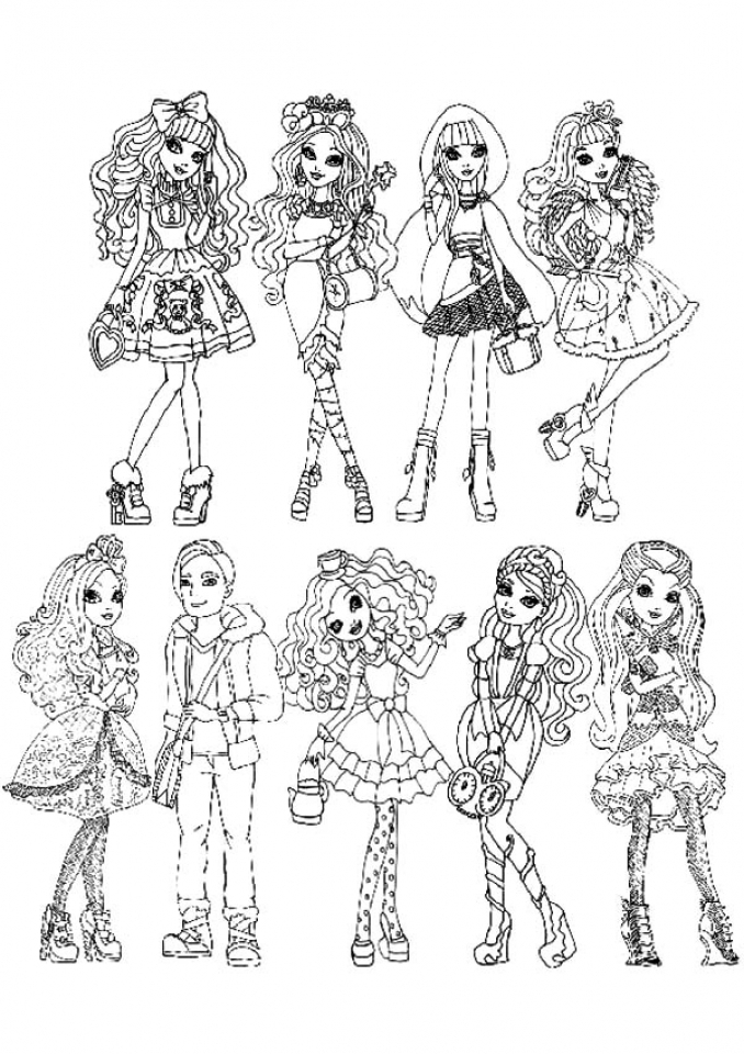 Get this ever after high coloring pages for girls fgt45 for Ever after high free coloring pages