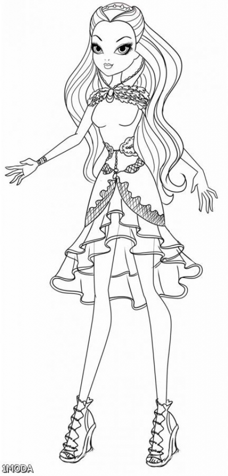 Ever After High Coloring Pages for Girls   VGT23