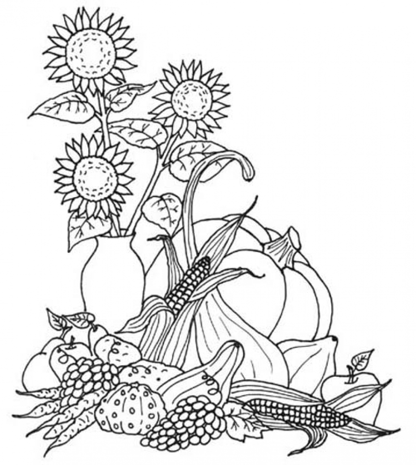 Get This Fall Coloring Pages For Grown Ups Free Printable