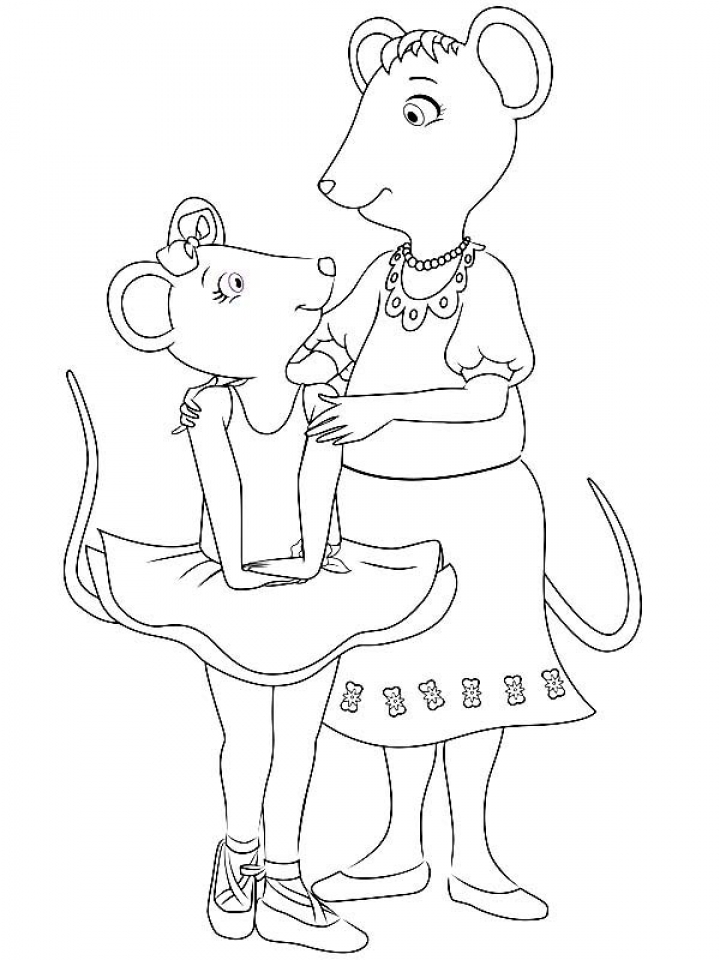 Get this free angelina ballerina coloring pages 623673 for Angelina ballerina coloring page