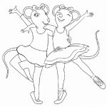 Free Angelina Ballerina Coloring Pages   706098