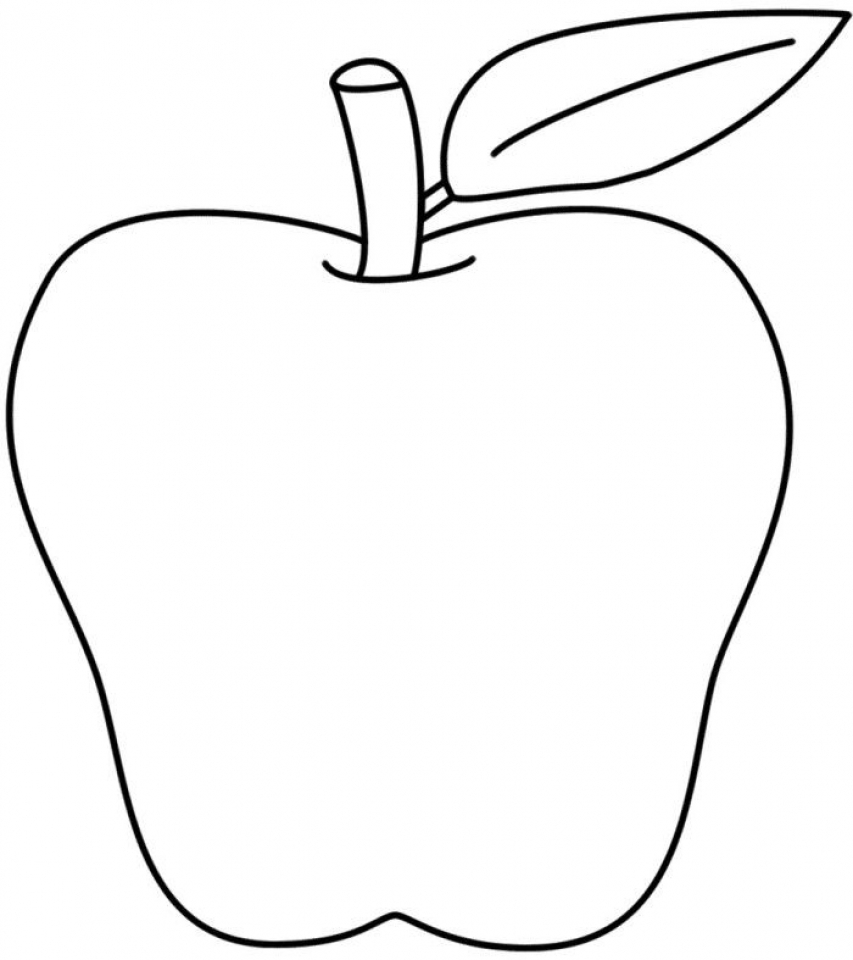Get This Free Apple Coloring Pages