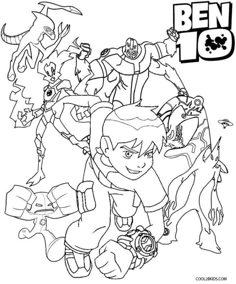 20 free printable ben 10 coloring pages for Ten coloring page