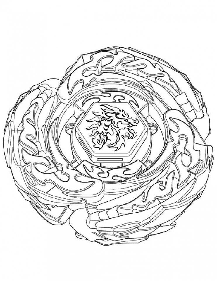 Get This Free Beyblade Coloring Pages 33958