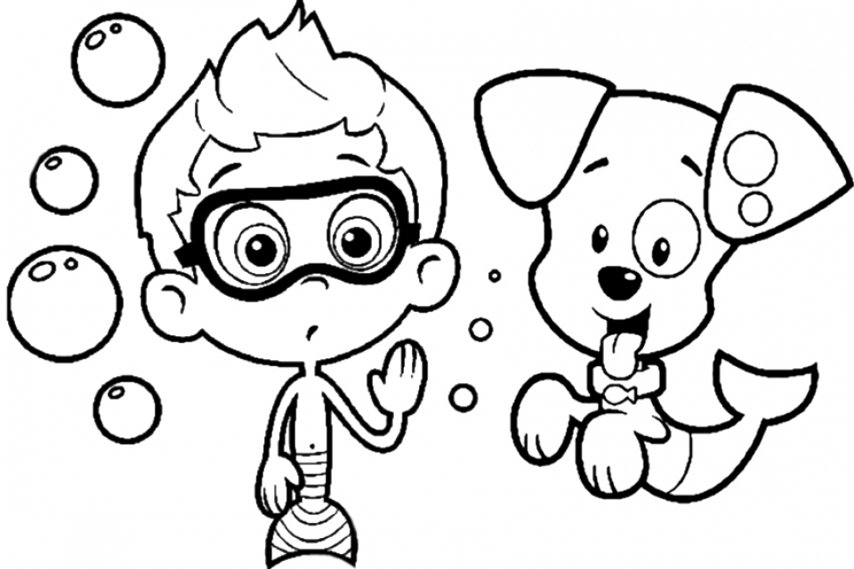 20 free printable bubble guppies coloring pages everfreecoloring com