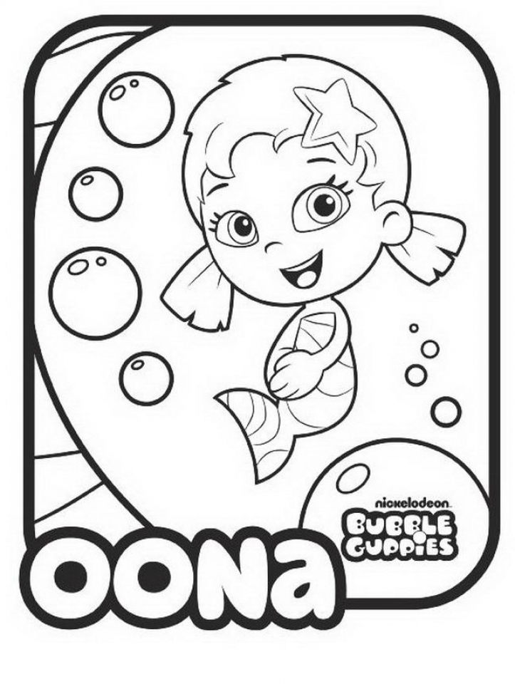 Free Bubble Guppies Coloring Pages   623672