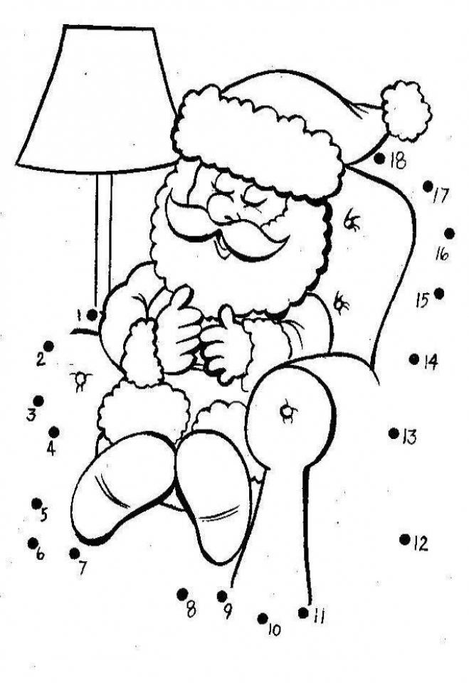 Free Christmas Dot to Dot Coloring Pages   9UWMI