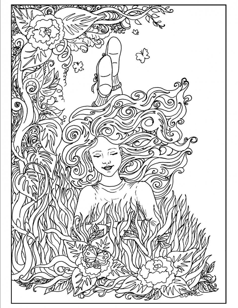 Get this free complex coloring pages printable ert2b for Free complex coloring pages