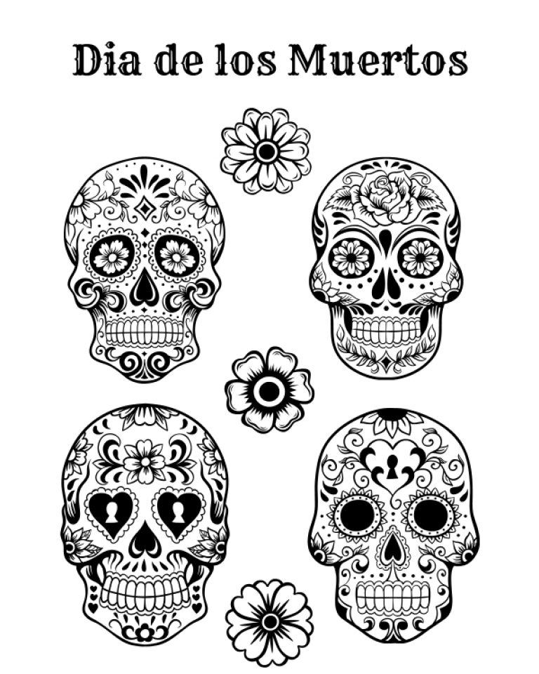 Get This Free Dia De Los Muertos Coloring Pages To Print