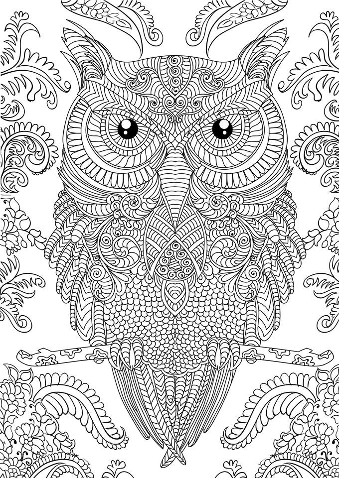 Free Difficult Animals Coloring Pages for Grown Ups   gh763